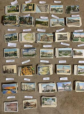 Vintage Post Card (Used & Unused. Lot of 50+ USA Vintage Postcards,1900- 1950s.We ❤️ Our)
