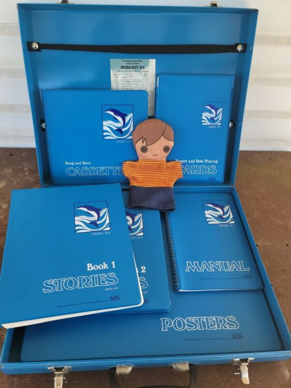 American Guidance Service Duso Kit D-1, w/Puppet, Stories, Cards, Posters, more!