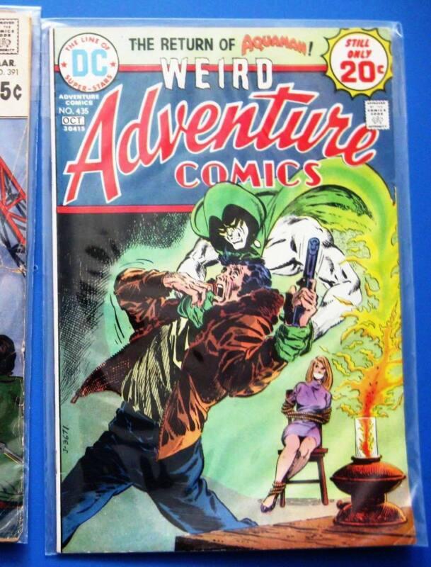 WEIRD ADVENTURE COMICS 435 436 437 (Spectre, Aquaman Black Manta Jim Aparo) 1974