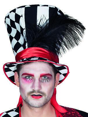 Mottoland 414457 - Black - White Hat, Kostüm Zubehör * Hut, Zylinder, - Rote Kostüm Zubehör