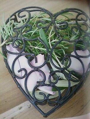 Deko Herz Geschenk idee Muttertag Metall Vintage Hochzeit shabby Valentinstag  ()