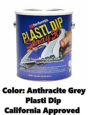 Performix Plasti Dip Spray 50 True Metallic Anthracite Grey Gallon Low Voc Cali