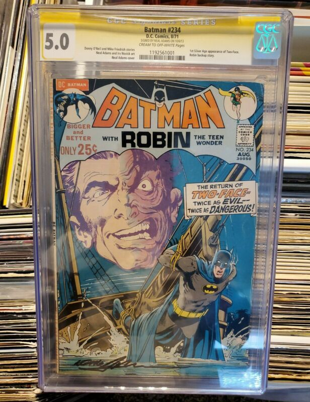 BATMAN #234 CGC 5.0 SS SIGNED BY NEAL ADAMS SILVER AGE 1ST APPEARANCE TWO-FACE