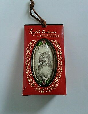 Cats Etched Ornament By Artist Rachel Badeau For Silvestri Dated 2006