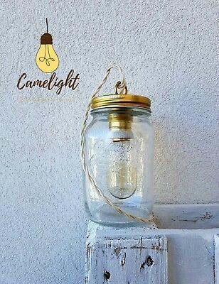 Lampada barattolo stile vintage,tavolo,libreria,comodino,salotto +lampadina