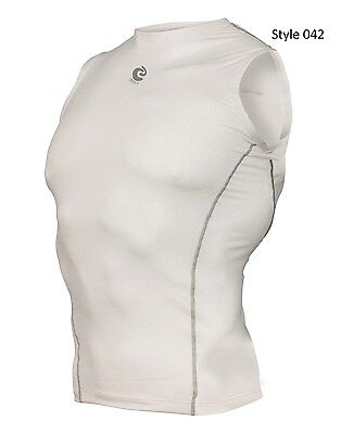 042 White Sleeveless Shirt