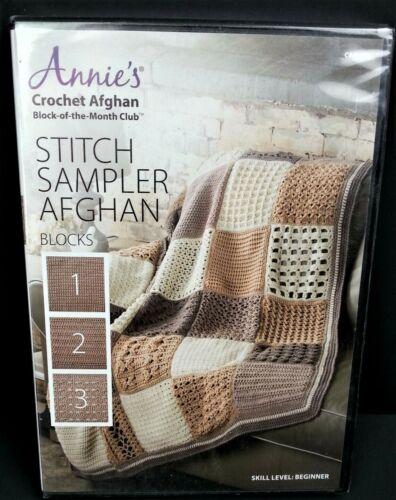 Annies Crochet Afghan Stitch Sampler Blocks 1 2 3 DVD Block of the Month 2018