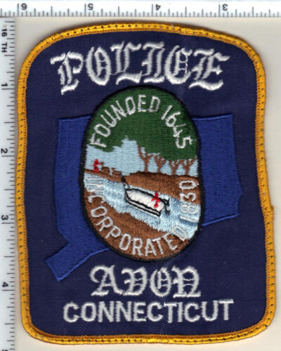 Avon Police (Connecticut) Uniform Take-Off Shoulder Patch from 1989