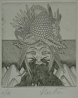 Wolfgang Hutter 1928 geb. - Radierung e/a.