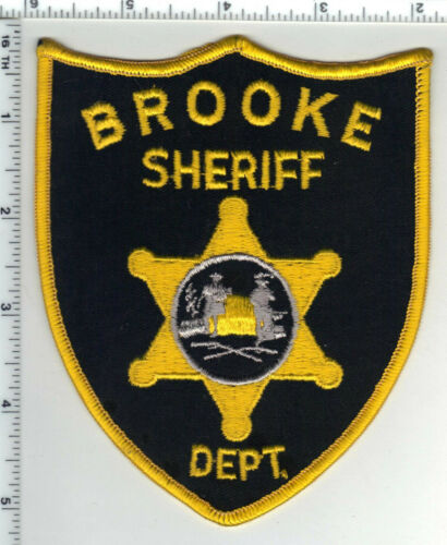 Brooke Sheriff Dept. (West Virginia) 1st Issue Larger Yellow Shoulder Patch