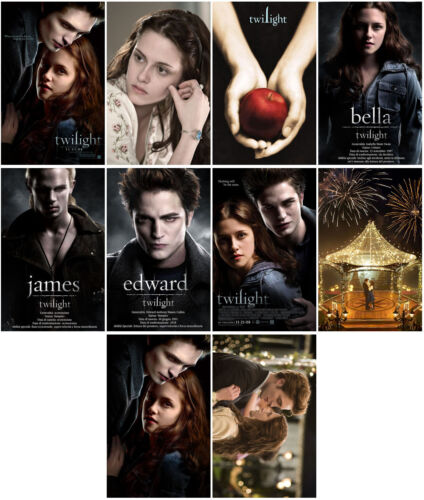Twilight (2008) Mirror Surface Card Sticker Promo Card Poster Collect Sticker-78
