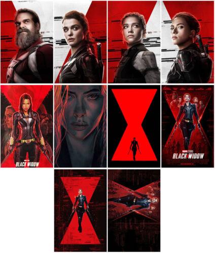 10pcs Black Widow Movie 2020 Mirror Surface Card Sticker Promo Card Poster -iwoq