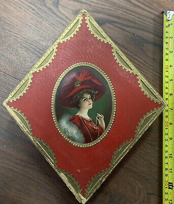 Vintage Chocolate Candy Box Beautiful Victorian Lady