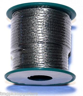 1m Kabel silberummantelt zur Innenverdrahtung Gitarre/Bass braided shield wire