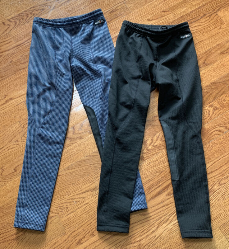 Lot of (2) Kerrits Youth Equestrain Riding Knee Patch Breeches Pants Size M 8-10