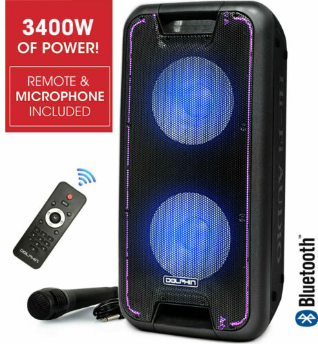Dolphin 3400W Bluetooth Tailgate Rechargeable Party Speaker System + WaveSync™
