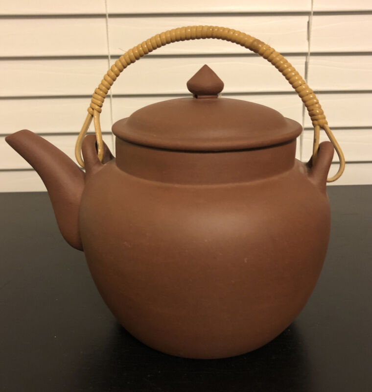 Vintage Yixing Red Clay Chinese Teapot Signed Never Used