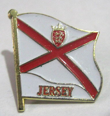 Great pin badge flag place Jersey approx 1 ins long