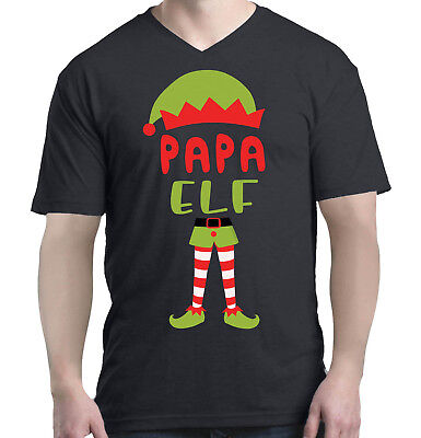 Papa Elf Costume Men V-Neck Christmas Funny Merry Xmas - Merry Men Costume