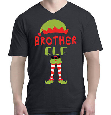 Brother Elf Costume Men V-Neck Christmas Funny Merry Xmas - Merry Men Costume