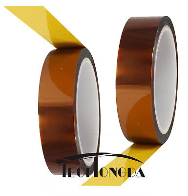 2 Rolls Gold Adhesive Tape High Temperature Heat Resistant Tapes10mm 30m