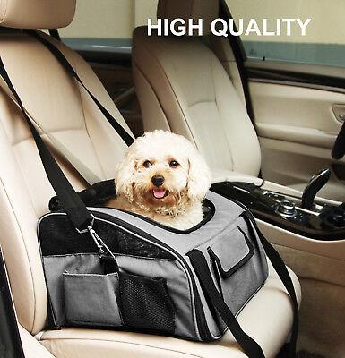 Pet Travel Carrier Bag, Dog Car Seat Bag,16 x 13.5 x 12 Inches Car Seat Carrier Bag