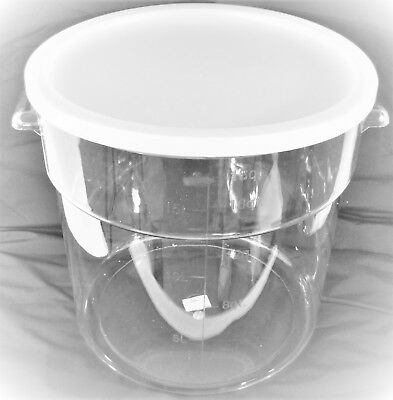 Clear Transparent Storage Bucket Bin Polycarbonate PC w Cover 18L 4.75 - Clear Bucket
