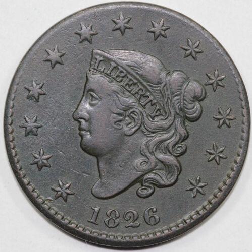 1826 1c N-9 Coronet or Matron Head Large Cent