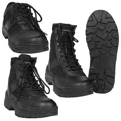 SECURITY STIEFEL Stahlkappe Thinsulate 38-47, MIL-TEC Einsatzstiefel SWAT Schuhe (Stiefel Swat)