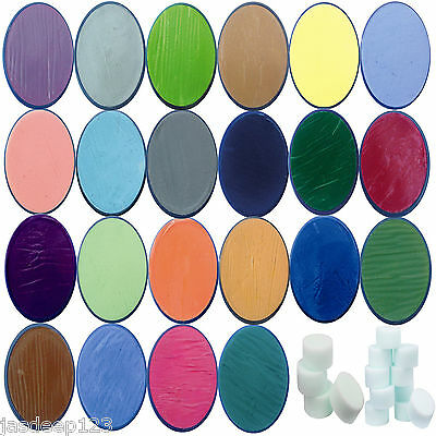 Snazaroo Face Paints Classic Colours Make Up Painting Party Halloween Fancy - Snazaroo Face Paints Halloween