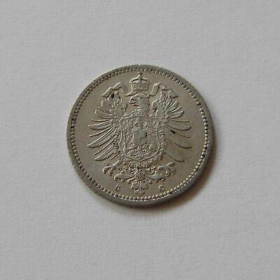 KAISERREICH: 20 Pfennig 1876 C, J. 5, prägefrisch/unc. !!!