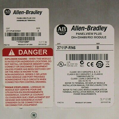 Allen Bradley 2711p-rn6 B Panelview Plus Dhdh485rio Module