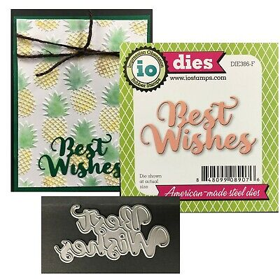Best Wishes Words Metal Die Cutter Impression Obsession Cutting Dies