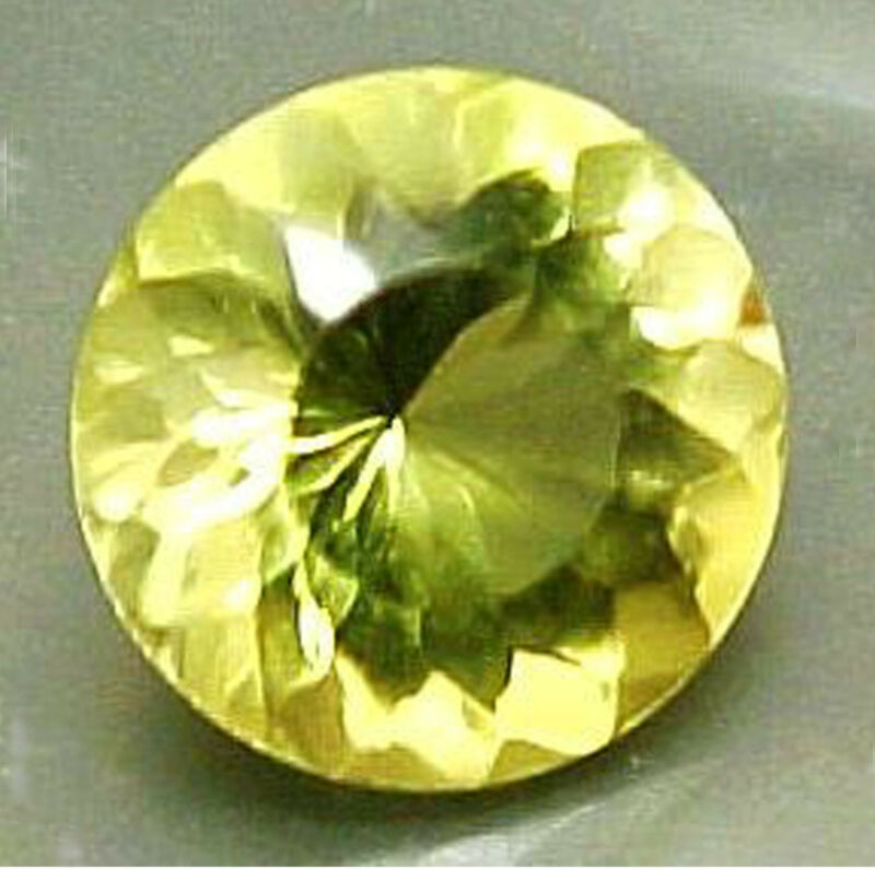 A+COLOR! 11 mm ROUND PORTUGUESE CUT LEMON QUARTZ #R385