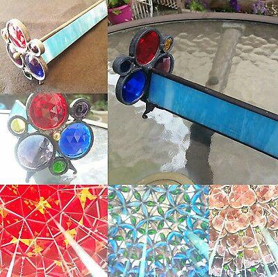 Vintage handmade stained glass kaleidoscope