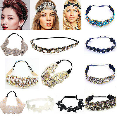 Fashion Women Lace Elastic Headband Hairband Hair Band Head Wrap Accessories A