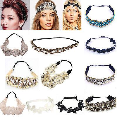 Fashion Womens Lace Elastic Headband Hairband Hair Band Head Wrap Accessories A