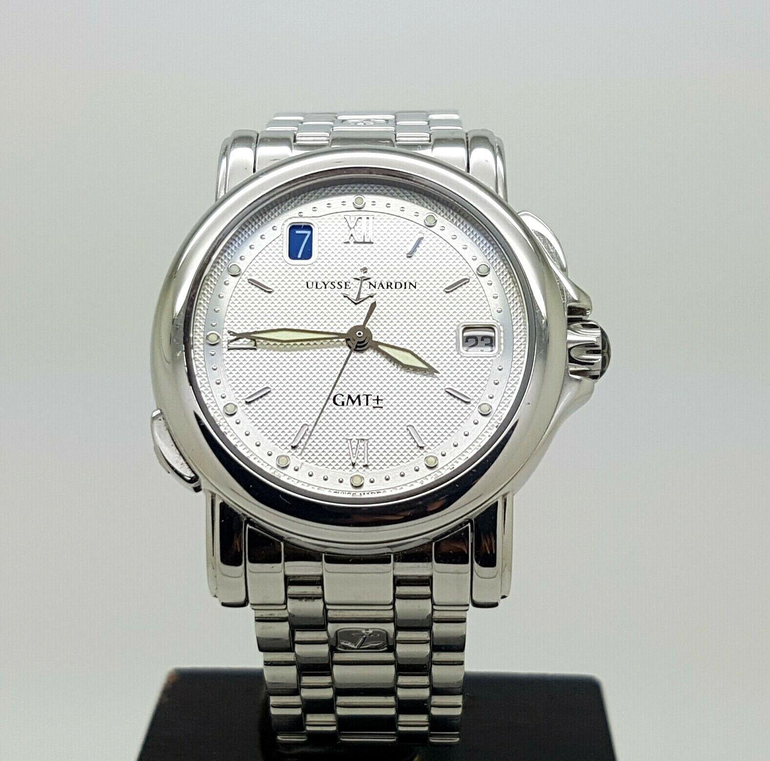 1Fine S.Steel Automatic Ulysse Nardin San Marco GMT Men Watch Ref 203.22 - watch picture 1