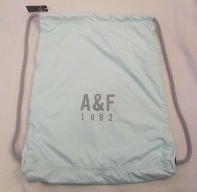 Abercrombie & fitch women's backpack sackpack light turquoise New!