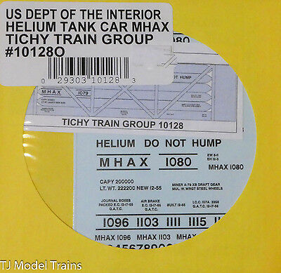 Tichy Train Group O #10128O US Dept of the Interior Helium Tank Car MHAX (O)