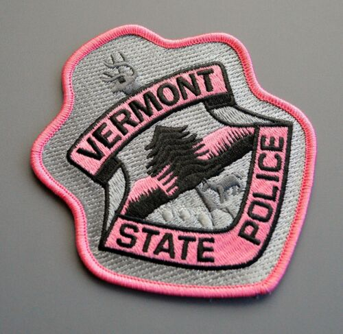Vermont State Police Pink Patch ++ Breast Cancer Awareness VT SP