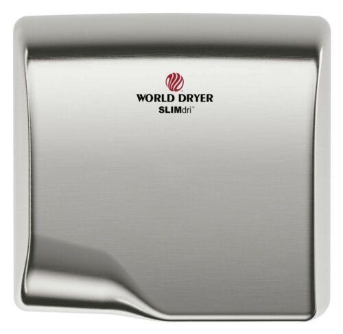 World Dryer Corporation L-973A Slimdri Hand Dryer  Brushed Satin Stainless Steel