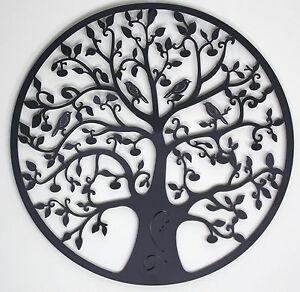 Black Tree of Life Metal Hanging Wall Art Indoor Outdoor Home Décor BIG 60 cm