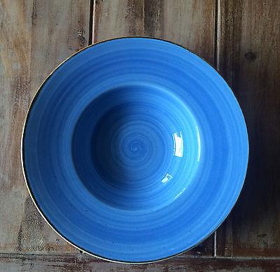 Churchill STONECAST Wide Rim Bowl Cornflower Blue Teller tief Porzellan 24 cm
