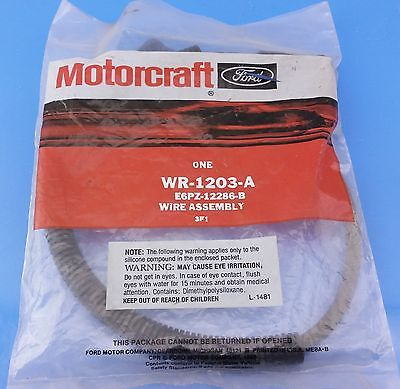 NOS Ford Ignition Coil Spark Plug Wire Assy E6PZ-12286-B WR-1203-A Motorcraft - Plug Wire Assy