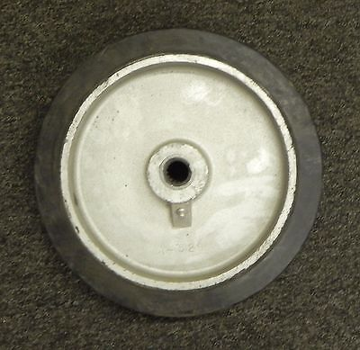 Industrial Caster Forged Steel Or Cast Iron Wheel Rubber No Toplate. Lot Of 4.