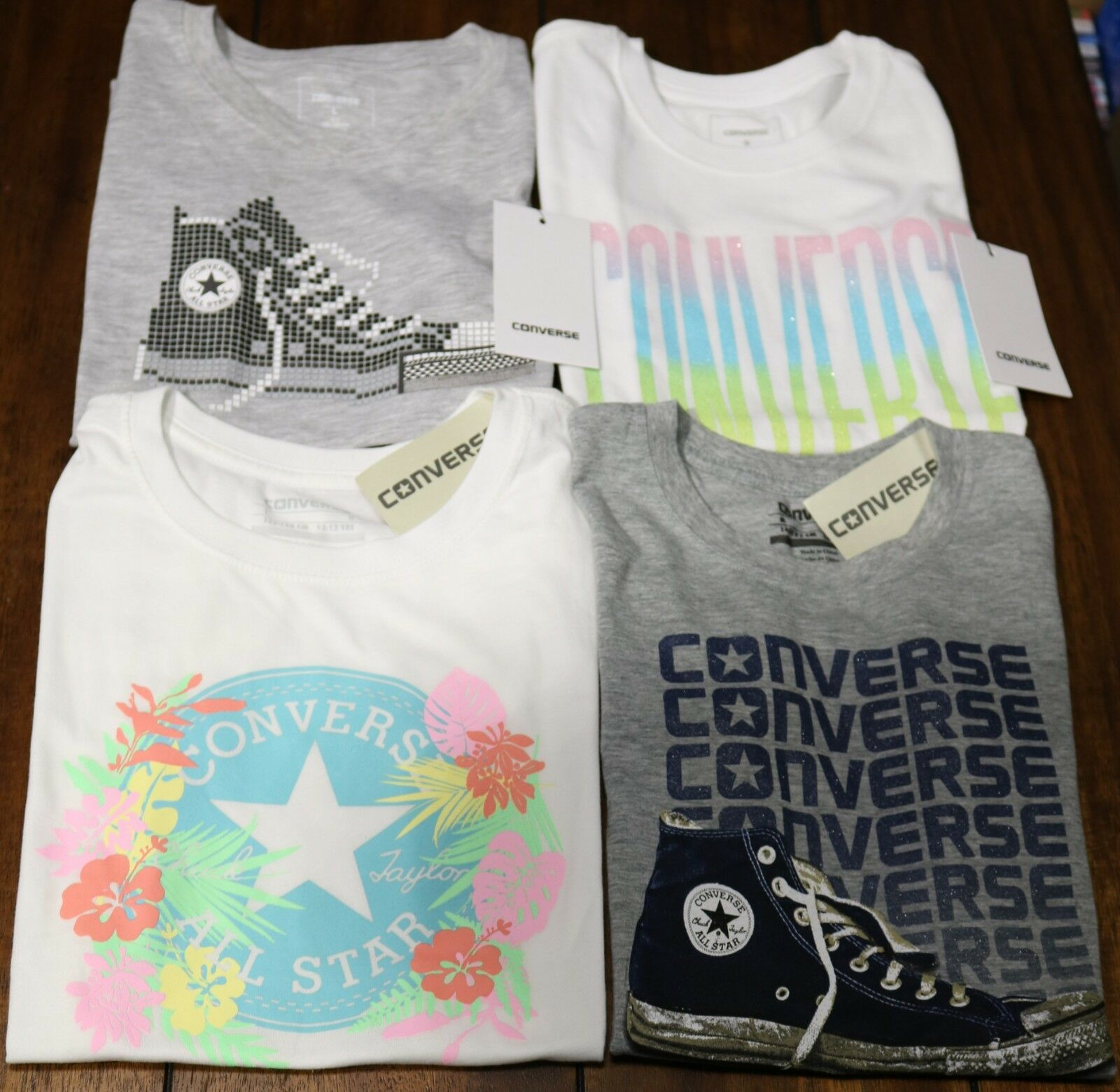 Details about Converse Chuck Taylor T Shirts Grafic Tee Girls Youth S, M, L, XL