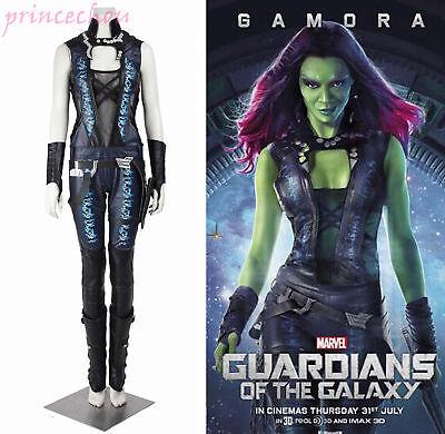 GuardiansoftheGalaxyCosplayGamora Jumpsuit Overall Karneval Damen (Guardian Of The Galaxy Gamora Kostüm)