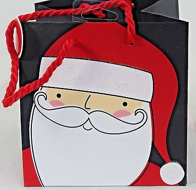 New Wondershop Bulk Lot Small Gift Bag Christmas Santa Black Red Lot/20 Bags