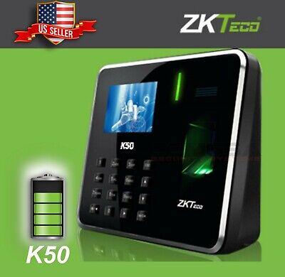 Zkteco Fingerprint K50 Time Attendance Biometric With Battery Employer Clockzk